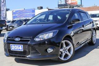 2014 Ford Focus LW MkII Titanium PwrShift Black 6 Speed Sports Automatic Dual Clutch Hatchback.