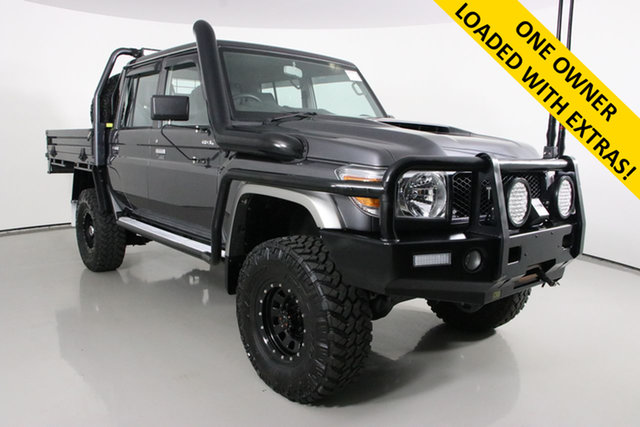 Used Toyota Landcruiser VDJ79R GXL (4x4) Bentley, 2019 Toyota Landcruiser VDJ79R GXL (4x4) Graphite 5 Speed Manual Double Cab Chassis