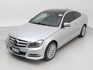 2014 Mercedes-Benz C180 W204 MY14 Silver 7 Speed Automatic G-Tronic Coupe