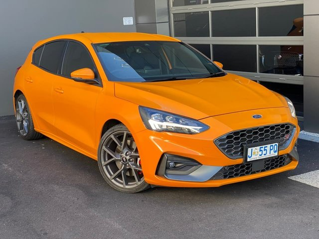 Used Ford Focus SA 2020.25MY ST Hobart, 2020 Ford Focus SA 2020.25MY ST Orange 7 Speed Automatic Hatchback