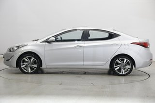 2014 Hyundai Elantra MD3 Premium Sleek Silver 6 Speed Sports Automatic Sedan.