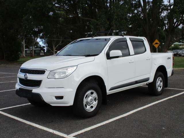 Used Holden Colorado RG LS Timboon, 2014 Holden Colorado RG LS White Automatic Crewcab
