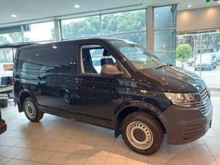 2020 Volkswagen Transporter T6.1 MY21 TDI340 SWB DSG Black 7 Speed Sports Automatic Dual Clutch Van.