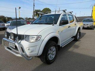 2012 Mitsubishi Triton MN MY12 GL-R (4x4) White 4 Speed Automatic Double Cab Utility.