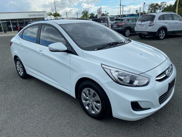 Used Hyundai Accent RB2 Active Gladstone, 2014 Hyundai Accent RB2 Active White 4 Speed Sports Automatic Sedan