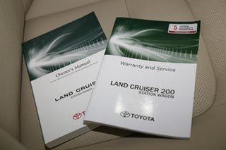 2021 Toyota Landcruiser VDJ200R Sahara Pearl White 6 Speed Sports Automatic Wagon