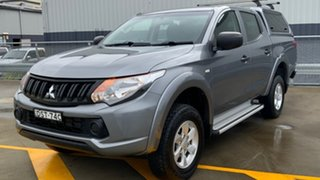 2017 Mitsubishi Triton MQ MY18 GLX+ Double Cab Grey 5 Speed Sports Automatic Utility.