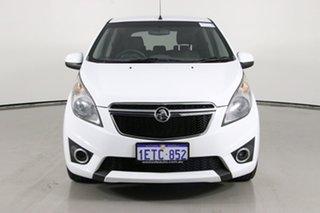 2015 Holden Barina Spark MJ MY15 CD White 4 Speed Automatic Hatchback.