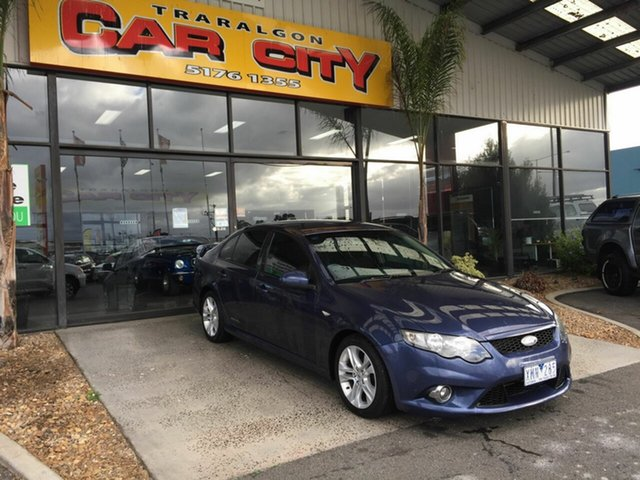 Used Ford Falcon FG XR6 Traralgon, 2008 Ford Falcon FG XR6 Blue 5 Speed Auto Seq Sportshift Sedan