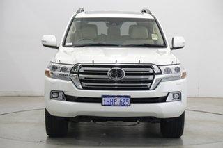 2021 Toyota Landcruiser VDJ200R Sahara Pearl White 6 Speed Sports Automatic Wagon.