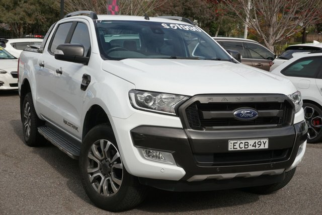 Used Ford Ranger PX MkII Wildtrak Double Cab Phillip, 2017 Ford Ranger PX MkII Wildtrak Double Cab White 6 Speed Sports Automatic Utility