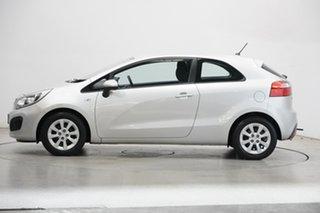 2013 Kia Rio UB MY13 S Bright Silver 4 Speed Sports Automatic Hatchback.