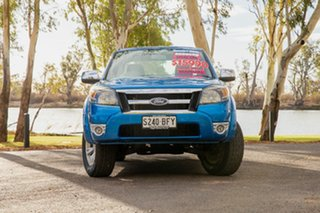 2010 Ford Ranger PK XLT (4x2) Blue 5 Speed Manual Dual Cab Pick-up.