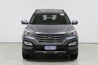 2013 Hyundai Santa Fe DM Active CRDi (4x4) Grey 6 Speed Automatic Wagon.