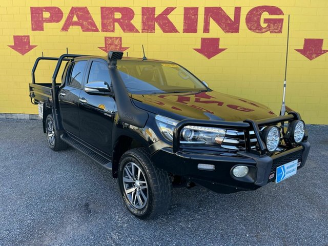 Used Toyota Hilux GUN126R SR5 Double Cab Winnellie, 2016 Toyota Hilux GUN126R SR5 Double Cab Black 6 Speed Sports Automatic Utility