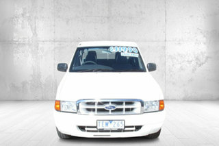 2002 Ford Courier PE GL Crew Cab 4x2 White 5 Speed Manual Cab Chassis.