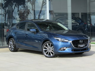 2017 Mazda 3 BN5238 SP25 SKYACTIV-Drive Astina Blue 6 Speed Sports Automatic Sedan.