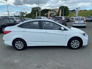 2014 Hyundai Accent RB2 Active White 4 Speed Sports Automatic Sedan