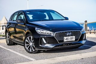 2017 Hyundai i30 PD MY18 Premium D-CT Black 7 Speed Sports Automatic Dual Clutch Hatchback.