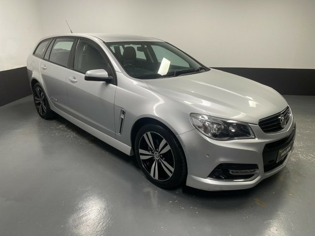 Used Holden Commodore VF MY15 SV6 Sportwagon Storm Hamilton, 2015 Holden Commodore VF MY15 SV6 Sportwagon Storm Silver 6 Speed Sports Automatic Wagon