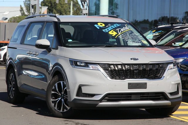 New Kia Carnival KA4 MY21 SI Cheltenham, 2021 Kia Carnival KA4 MY21 SI Silky Silver 8 Speed Sports Automatic Wagon