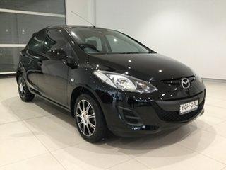 2012 Mazda 2 DE10Y2 MY13 Neo Brilliant Black/grey 4 Speed Automatic Hatchback.