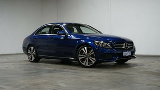 2018 Mercedes-Benz C-Class W205 808MY C200 9G-Tronic Blue 9 Speed Sports Automatic Sedan.
