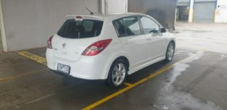 2011 Nissan Tiida C11 S3 TI White 4 Speed Automatic Hatchback.