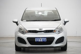 2013 Kia Rio UB MY13 S Bright Silver 4 Speed Sports Automatic Hatchback.