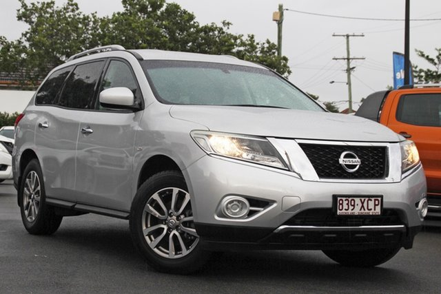 Used Nissan Pathfinder R52 MY15 ST X-tronic 4WD Mount Gravatt, 2015 Nissan Pathfinder R52 MY15 ST X-tronic 4WD Silver 1 Speed Constant Variable Wagon