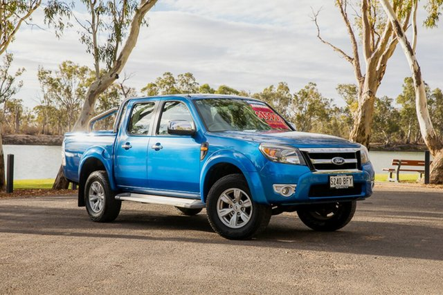Used Ford Ranger PK XLT (4x2) Loxton, 2010 Ford Ranger PK XLT (4x2) Blue 5 Speed Manual Dual Cab Pick-up