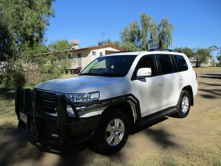 2016 Toyota Landcruiser VDJ200R MY16 GXL (4x4) Glacier White 6 Speed Automatic Wagon