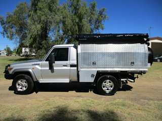 2010 Toyota Landcruiser VDJ79R 09 Upgrade GXL (4x4) Silver Pearl 5 Speed Manual Cab Chassis