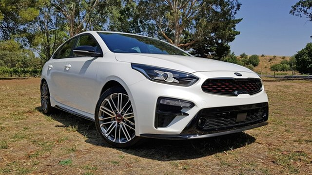 New Kia Cerato BD MY21 GT DCT Nuriootpa, 2021 Kia Cerato BD MY21 GT DCT Clear White 7 Speed Automatic Hatchback