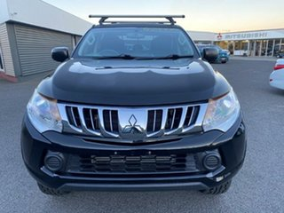 2015 Mitsubishi Triton MQ MY16 GLX Double Cab Black/dark Grey Cl 6 Speed Manual Utility
