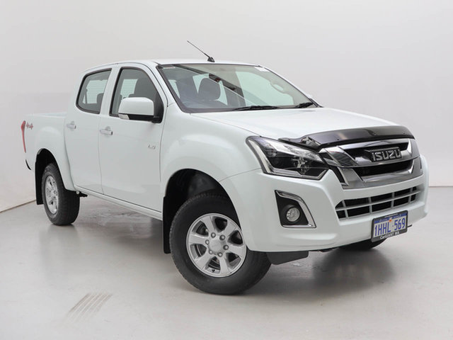Used Isuzu D-MAX TF MY18 LS-M HI-Ride (4x4), 2018 Isuzu D-MAX TF MY18 LS-M HI-Ride (4x4) White 6 Speed Automatic Crew Cab Utility