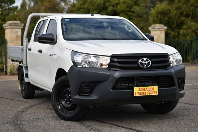 Used Toyota Hilux TGN121R Workmate Double Cab 4x2 Enfield, 2015 Toyota Hilux TGN121R Workmate Double Cab 4x2 White 6 Speed Sports Automatic Utility