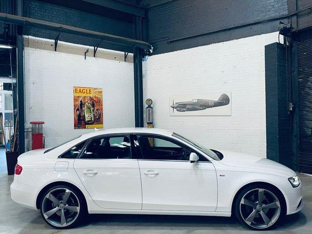 Used Audi A4 B8 8K MY13 Quattro Port Melbourne, 2012 Audi A4 B8 8K MY13 Quattro White 6 Speed Manual Sedan