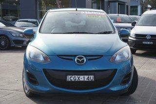 2012 Mazda 2 DE10Y2 MY12 Neo Blue 4 Speed Automatic Hatchback.
