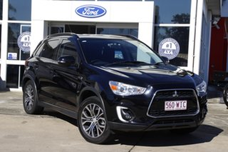 2016 Mitsubishi ASX XB MY15.5 LS 2WD Black 6 Speed Constant Variable Wagon.