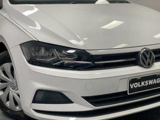 2017 Volkswagen Polo AW MY18 70TSI Trendline White 5 Speed Manual Hatchback.