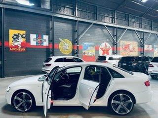 2012 Audi A4 B8 8K MY13 Quattro White 6 Speed Manual Sedan
