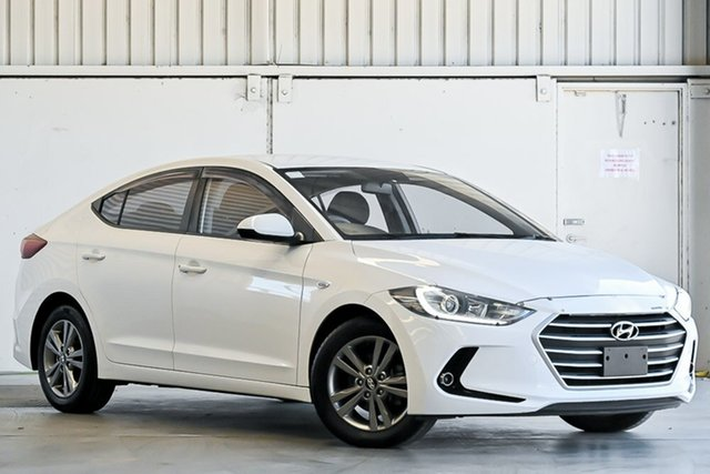 Used Hyundai Elantra AD MY18 Active Laverton North, 2018 Hyundai Elantra AD MY18 Active White 6 Speed Sports Automatic Sedan