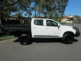 2014 Holden Colorado RG MY14 LX Crew Cab White 6 Speed Sports Automatic Cab Chassis.