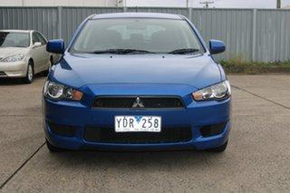 2011 Mitsubishi Lancer CJ MY11 SX Sportback Blue 6 Speed CVT Auto Sequential Hatchback.
