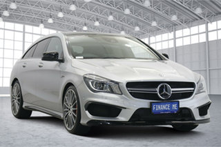 2015 Mercedes-Benz CLA-Class X117 CLA45 AMG Shooting Brake SPEEDSHIFT DCT 4MATIC Silver 7 Speed.