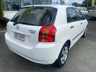 2004 Toyota Corolla ZZE122R Ascent White 5 Speed Manual Hatchback