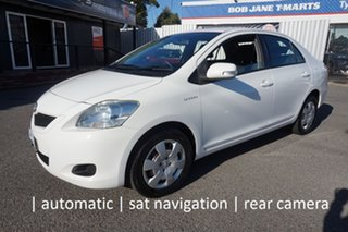 2008 Toyota Yaris NCP93R MY09 YRS Snow Cap White 4 Speed Automatic Sedan.