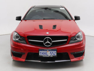 2015 Mercedes-Benz C63 W204 MY14 AMG Edition 507 Red 7 Speed Automatic G-Tronic Coupe.