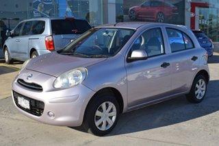 2011 Nissan Micra K13 ST Purple 4 Speed Automatic Hatchback.